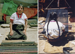 """Telar"" diptych — Dominga is weaving a traditional skirt. unka' López Díaz, 2000. Tsotsil ethnic group."